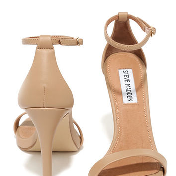 Steve Madden Stecy Natural Ankle Strap Heels