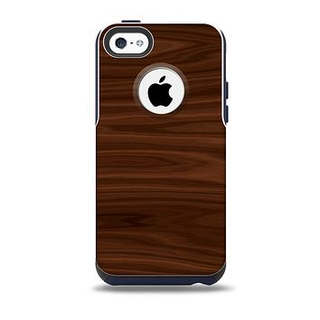 The Dark Brown Wood Grain Skin for the iPhone 5c OtterBox Commuter Case