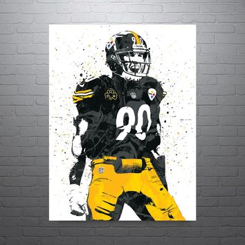 TJ Watt Pittsburgh Steelers Poster