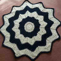 Crochet Star Rug Floor Mat  Nursery Room Rug Baby Room Rug Kitchen Rug Living Room Rug Deck Rug