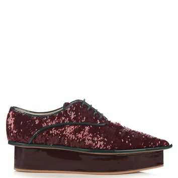 Sequin flatform derby shoes | Delpozo | MATCHESFASHION.COM US