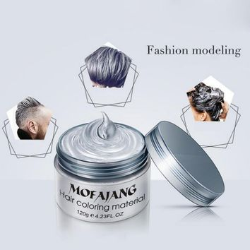7 Colors Grandma Gray Hair Wax 120g Does Not Hair Hurt Silver Gray One-Time Hair Dye Fifty Degrees Grey Hair