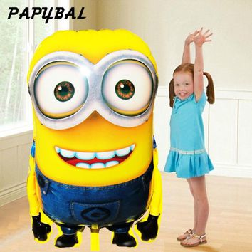 92*65cm Big Size Minions Balloons Cartoon balls Classic Toys Happy Birthday Wedding Decoration Party inflatable air balloon