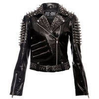 Spike Leather Jacket [B]