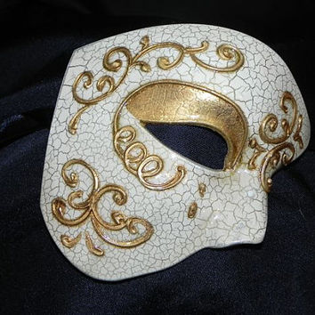 Gold and Ivory Phantom of the Opera Mask