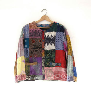 Vintage Patchwork Jacket. Indian Jacket. Ethnic Hippe Boho Jacket.