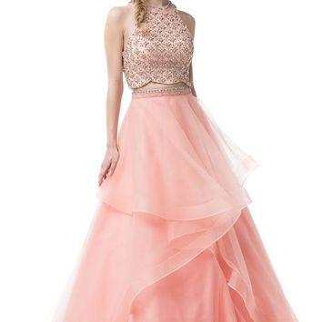 Two Pieces Evening Dress