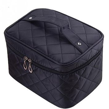 Cosmetic Bag Travel Organizer Beauty Pouch Functional Professional  Makeup Case Bags
