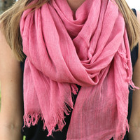 Super Soft Spring Scarf in Berry