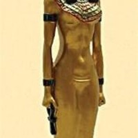 Isis Egyptian Goddess Statue Standing 8.75H