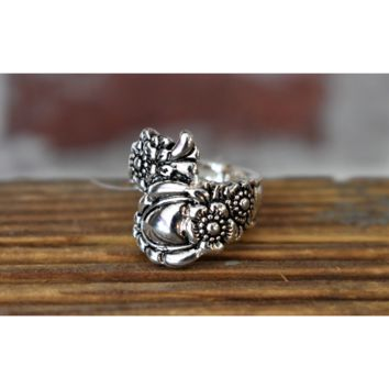 Silver Vintage Style Spoon Ring