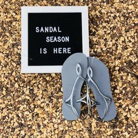 Havaianas Luna Sandals in Steel Grey