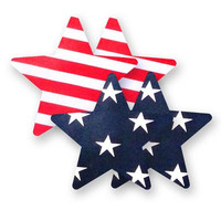 Nippies® Patriot Star Pasties Patriot Star Pasties American Flag A-DD
