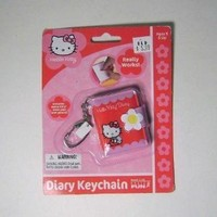 Hello Kitty Mini Diary Keychain