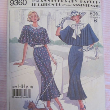 SALE Simplicity 60th Anniversary  Sewing Pattern!  Town Dress, Chic, 60's style, Dress, Size 6-12, Collar etc.