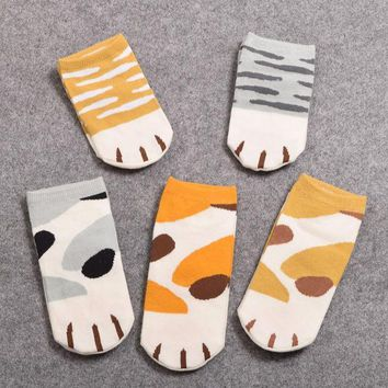 1pair Girls Cute Cat Claw Style Short Ankle Socks Anime Neko Atsume Cosplay Props