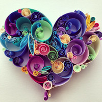 Quilled Paper Art: Love is All Around