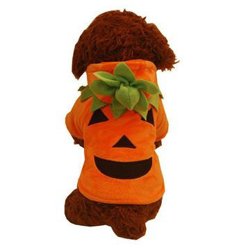Halloween Cosplay Costume Funny Pumpkin Pet Clothes Puppy Fancy Halloween Cosplay Costume Halloween Party Christmas Gift