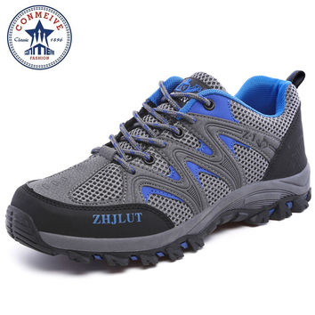 outdoor sport boots hiking shoes for men mens the walking boot climbing breathable lace-up Medium(B,M)