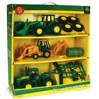"Ertl 8"" John Deere Deluxe Vehicle Value Set"