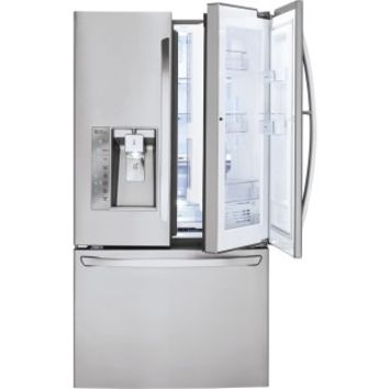 LG - Door-in-Door 28.6 Cu. Ft. French Door Refrigerator with Thru-the-Door Ice and Water - Stainless Steel