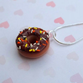 Halloween and Fall colors donut necklace by ScrumptiousDoodle