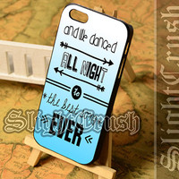 One Direction Lyrics Best Song - iPhone 4/4s/5/5s/5c Case - Samsung Galaxy S3/S4/S3-mini Case - Black or White