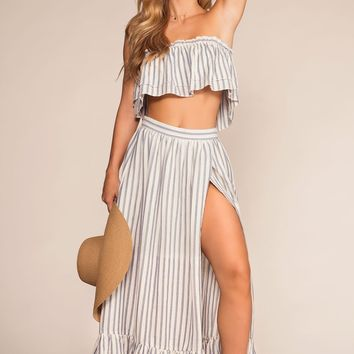 Beach Bound Stripe Maxi Skirt