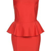 Peplum Scuba Pencil Dress - Dresses - Apparel - Topshop USA