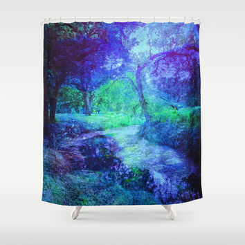 Creekbed Shower Curtain by DuckyB (Brandi)