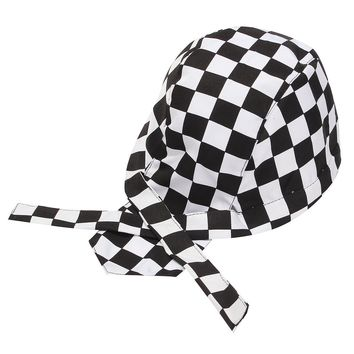 1 PCS Pirate Unisex Colorful Chef Hat Cap Cooking Cap Cloth Plaid Striped Plain Restaurant Waitress Hat Outdoors Sport Cap