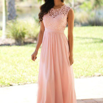 Sleeveless A-Line Pink Prom Dresses,Prom Dress
