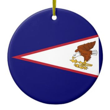 Ornament with flag of American Samoa