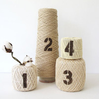 Vintage Spools of Thread - Stenciled - Display Props