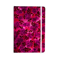 "Ebi Emporium ""Grunge Flowers IV"" Pink Red Everything Notebook"