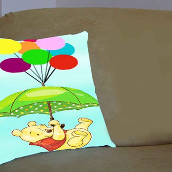 winnie the pooh balloon - Pillow Case, Pillow Cover, Custom Pillow Case **
