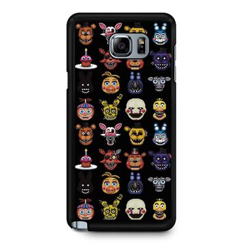 Five Nights At Freddy Pixel Art Characters Samsung Galaxy Note 5 Case