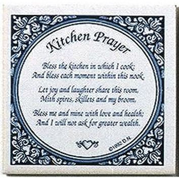 Inspirational Wall Plaque: Kitchen Prayer Tile
