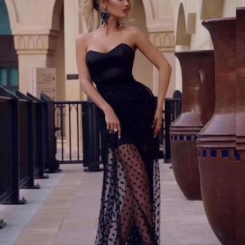 Mariott Elegant Mesh Maxi Dress