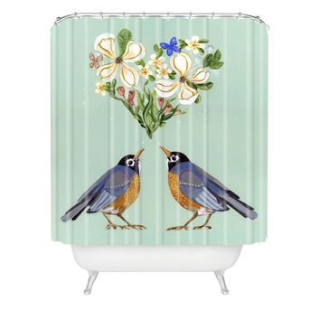 Land Of Lulu Spring Song Shower Curtain