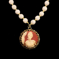 Cameo Statement Pendant, Victorian Cameo, Statement Necklace