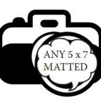 Special Order 5 x 7 Glossy Black Matted Not by ClicksByKaren