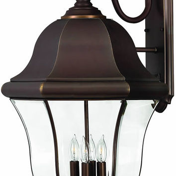 "0-034281>27""h Monticello 4-Light Extra-Large Outdoor Wall Lantern Copper Bronze"