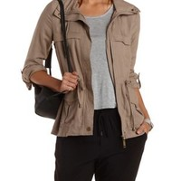 Drawstring Anorak Jacket by Charlotte Russe