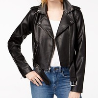 Levi's Faux-Leather Moto Jacket Juniors - Jackets & Vests - Macy's