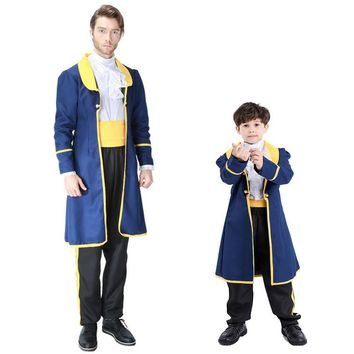 Parent-child Beauty and the Beast Cosplay Costume Halloween Costume The King COS Fantasy Kids Exotic Clothes Hot 9255H1774169