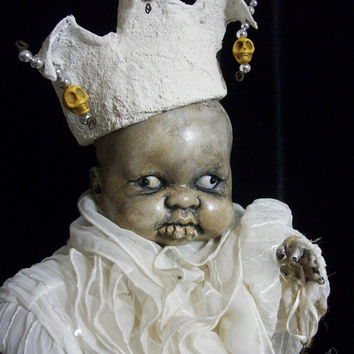 Creepy Prop Altered Art Witch Doll Haunted Horror OOAK Gothic Dead Monster Freak Zombie Halloween Scary Odd Weird By L.Cerrito