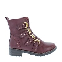 4Buckle Studded Ankle Bootie
