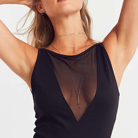 Silence + Noise Leah Mesh Inset Cami | Urban Outfitters
