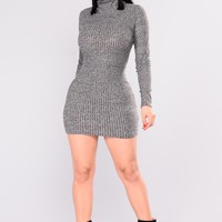 Brush Him Off Mini Dress - Black